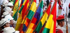 Ceremonia cívica. Bolivia