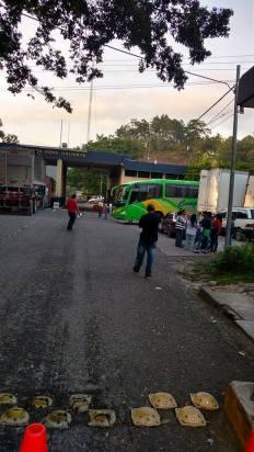 Vista de la frontera Aguas Calientes, desde el lado de Guatemala. OI
